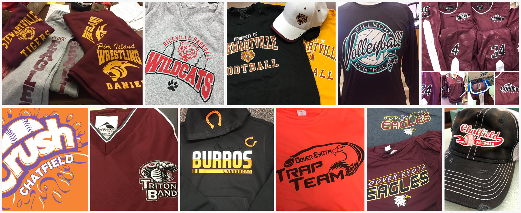 Threads Custom Apparel, Lisa, Mat, Vaupel, Chatfield, Minnesota, Custom Embroidery, Screen Printing, Vinyl, Heat Transfer, Custom Clothing Design, Tuxedo Rental, Dry Cleaning, Schools, Groups. Corporate, Gifts, Team Apparel, Team uniforms, school sports clothing, Benefits, walks, 5k, marathon, spirit, Logo, Shirts, Sweatshirts, Hats, polo shirts, jackets, farm clothing, athletic wear, performance clothing, online, jerseys, numbers, names, letters, Team Gear, School Gear, Sporting outfits, pants, bags, beanies, gifts, Tri Mountain, S&S Activewear, Holloway, SanMar, quality, fast, reliable, local, personable, in house made, Jersey Names, Corporate Gifts, Corporate Branding, Golf, Football, Soccer, Baseball, Softball, Basketball, Swimming, Hockey, Track, Trap Shooting, Wrestling, Academic, Math Wizards, Drama, MADD, Mayo, Band, High School, Middle School, Elementary School, Youth Programs, DayCare, Field Trips, Birthday, Volleyball, Girls, Boys, Cross Country, Varsity, B Team, Girls Weekend, Bridal Party, Bachelorette party, V-Neck, Cotton, Gore-tex, Nylon, spandex, under armor, Fleece, Hoodie, headband, shorts, Pullover, Chatfield, Gophers, Dover Eyota Eagles, FCLMC Wolves, Fillmore Central Falcons, GMLOK Bulldogs, Grand Meadow Super Larks, Kingsland Knights, Lanesboro Burros, LeRoy Ostrander Cardinals, Pine Island Panthers, Plainview Elgin Millville Bulldogs PEM, Rushford Peterson Trojans, Saint Charles Saints, Stewartville Tigers, Strongwell, Tuoey, Construction Apparel, Real Estate, Plumbers, Industrial, Agriculture, Big Girl Stickers, Kelly Printing, C&M Screen Printing, Full Court Apparel, Employee Recognition, novelties, coozie, Wedding Rental, Men's formal wear, fan apparel, blankets, parade novelties, radio, KFIL, Griffin Construction, Polar Plunge, Western Days, Trout Days, Buffalo Bill Days, Ag Days, Restaurant staff, Fair, 4-H, Horse Shows, Studio 223, shopping, Stadium seats, branding